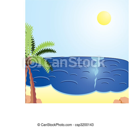 Vacation cards, Holiday day at the sea, vector illustration - csp3200143