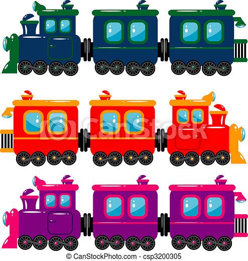 Clip Art Trains Clipart clipart vector of train trains over white eps 8 ai csp3200305
