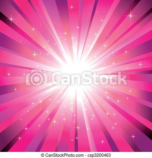 Magenta light burst with sparkling stars - csp3200463
