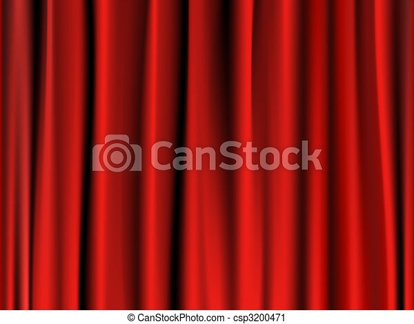 Classic red curtain - csp3200471