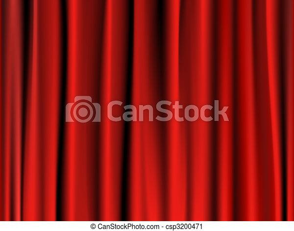 Classic red curtain - csp3200471