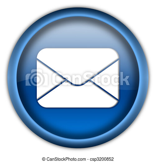 Mail envelope icon button - csp3200852