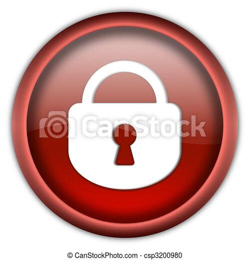 Closed lock button - csp3200980