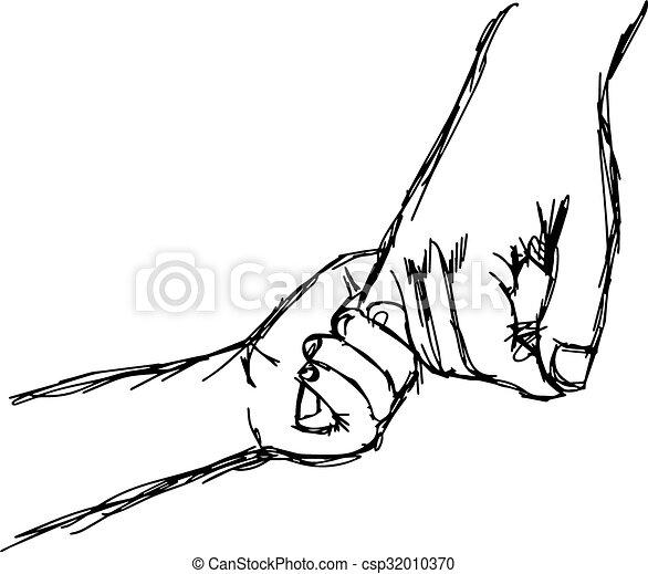 Illustrations vectoris es de croquis parent griffonnage - Dessin main enfant ...