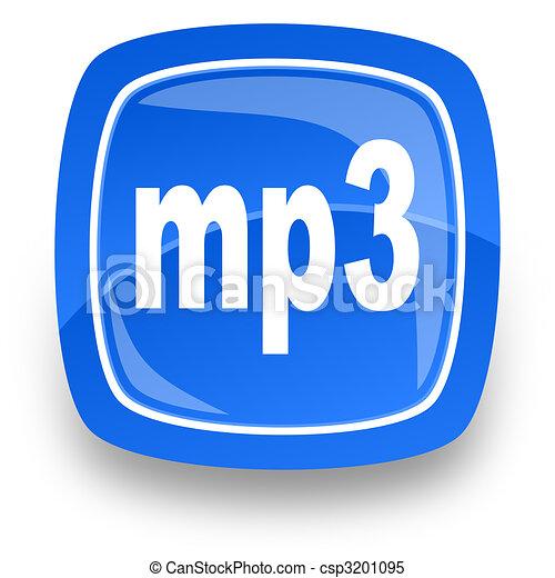 mp3 file internet icon - csp3201095