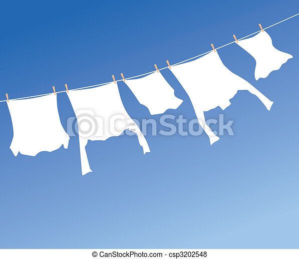 White laundry - csp3202548