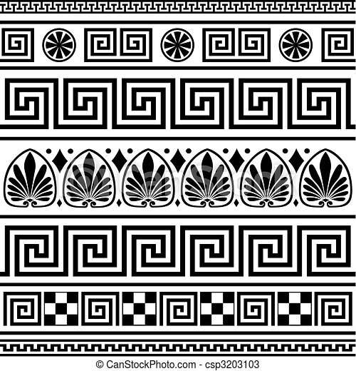 Set of vector greek borders - csp3203103