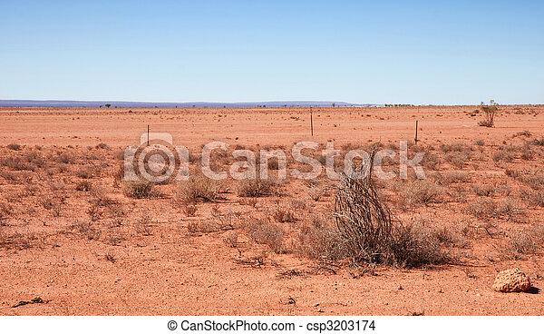 australian red desert - csp3203174