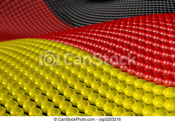 Wave of spheres in the colors of Germany - csp3203216