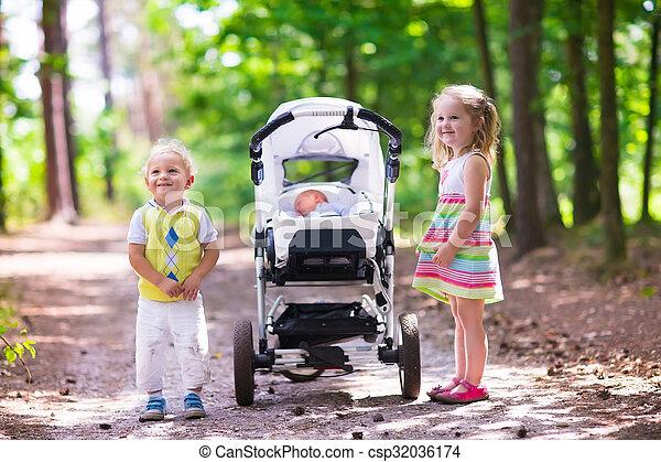 image de nouveau n b b pousser poussette enfants gar on et csp32036174 recherchez. Black Bedroom Furniture Sets. Home Design Ideas