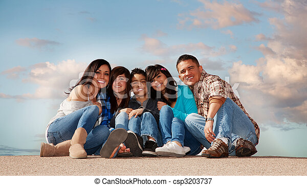 Hispanic Family - csp3203737