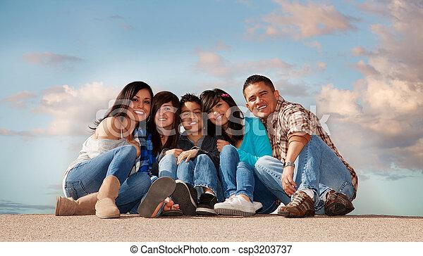 Hispanic Family - csp3203737