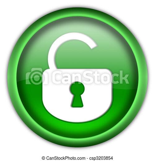 Open lock button - csp3203854
