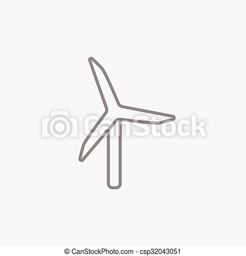 Windmill line icon. - csp32043051