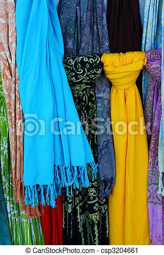 varios, colorido, bufandas, calles, Barcelona - csp3204661