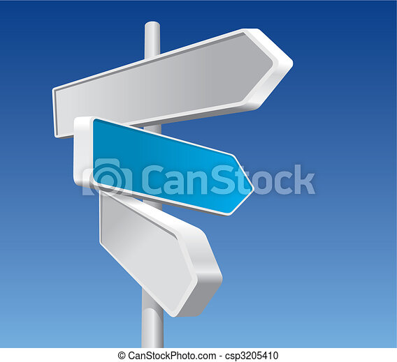 Directional Signs (vector) - csp3205410