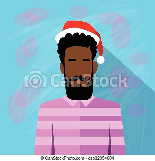 Vector Clipart of Profile Icon African American Ethnic Male New ...