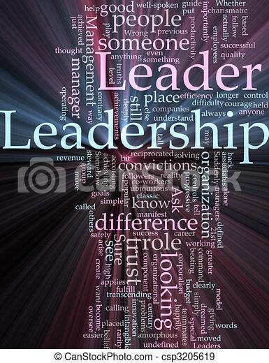 Leadership word cloud glowing - csp3205619