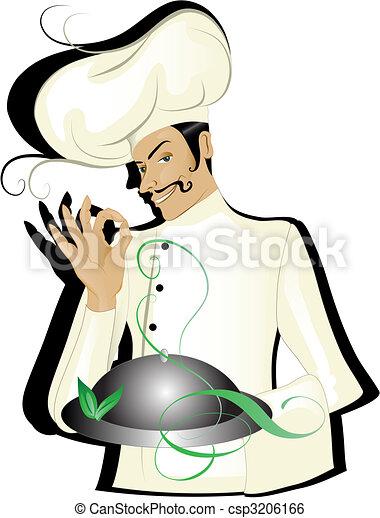 Chef isolated - csp3206166