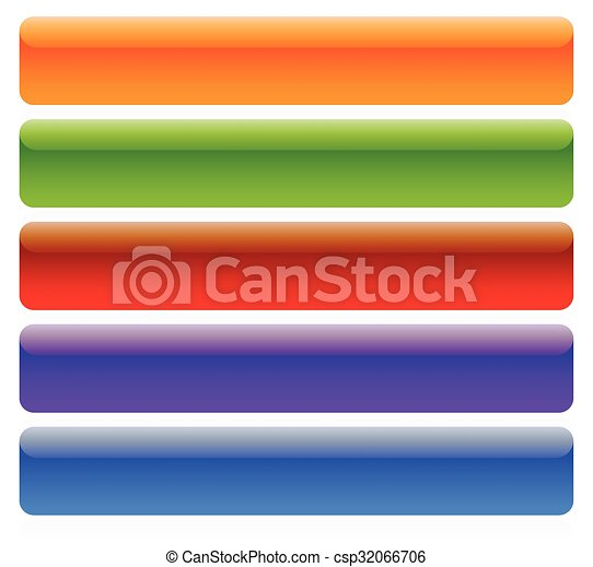 Vector Clipart of Set of oblong button, banner backgrounds in ...