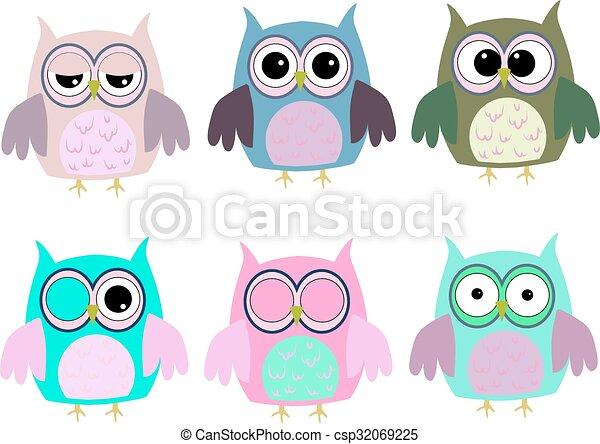 Owls - csp32069225