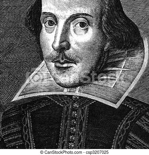 William Shakespeare engraving - csp3207025