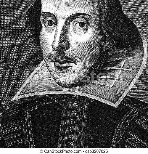 William Shakespeare engraving - csp3207025