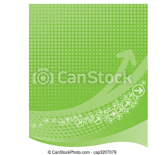 Lime green background with halftone - csp3207079