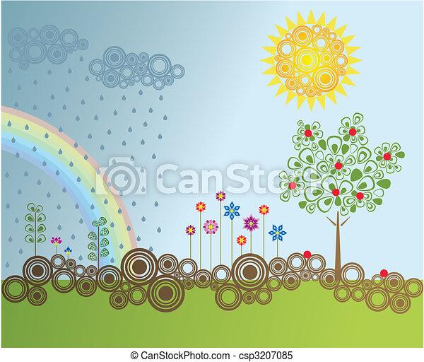 Retro style garden - csp3207085