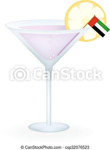 United Arab Emirates Cocktail - csp32076523