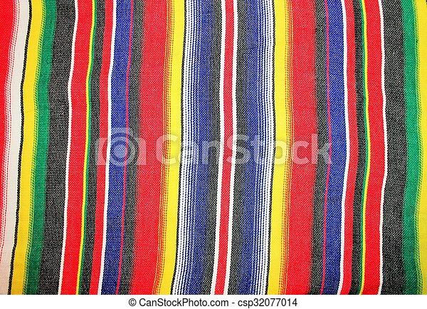 Mexico traditional cinco de mayo rug poncho fiesta with stripes - csp32077014