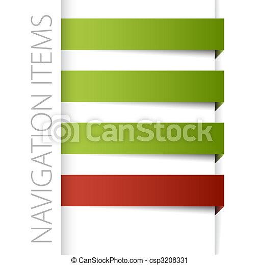 Modern navigation items - csp3208331