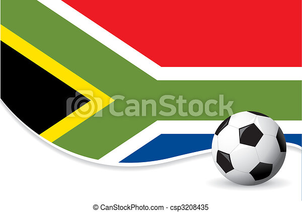 South Africa world cup background - csp3208435