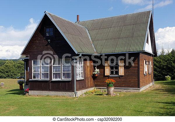 Wooden tourist hotel - csp32092200