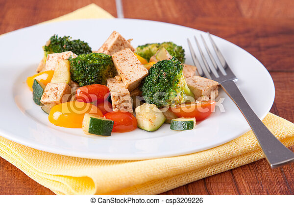 Vegan Tofu Meal - csp3209226