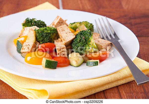 Vegan Tofu Meal - csp3209226