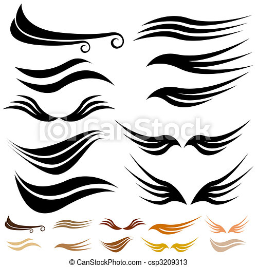 Abstract Wave Wing Set - csp3209313