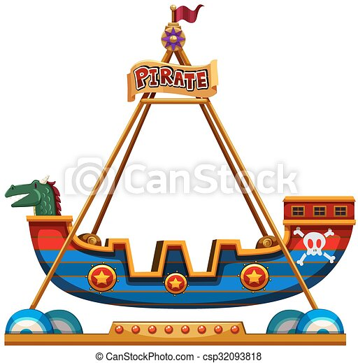 Vector Clip Art of Viking ride in carnival illustration csp32093818 - Search Clipart ...