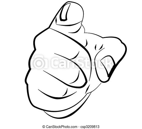 dedo, punho - csp3209813