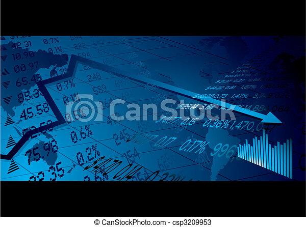 business stock market - csp3209953
