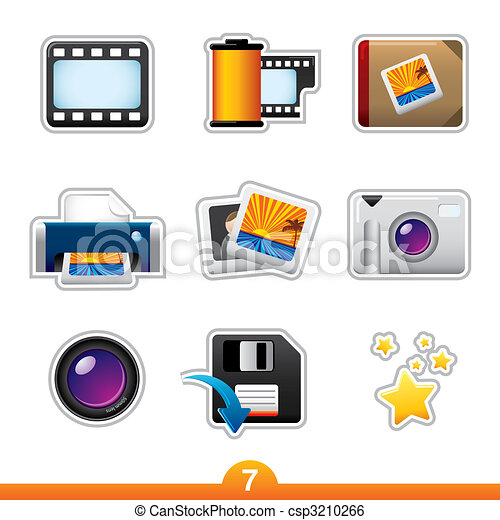 Sticker series 7 - photography - csp3210266