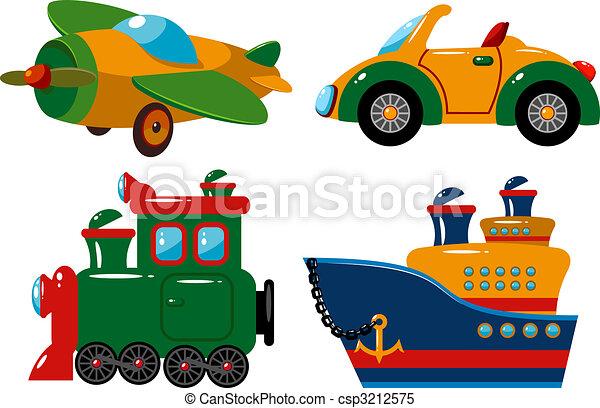 Set of vehicles - csp3212575