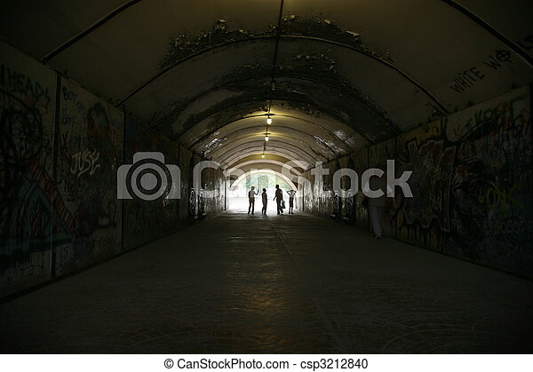people in the underpass - csp3212840