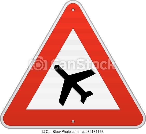 Airport Road Sign - csp32131153