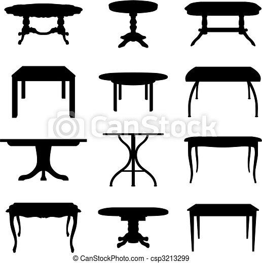 Eps vectores de mesas conjunto colecci n de diferente for Mesas de dibujo artistico