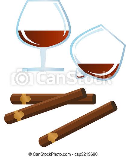 Brandy and Cigar - csp3213690