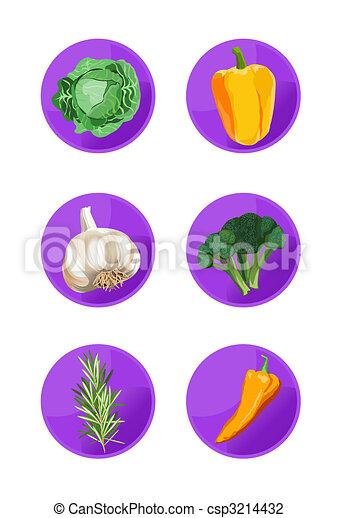 Veggie Icons - csp3214432