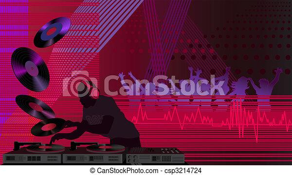 Dj in the Club - csp3214724