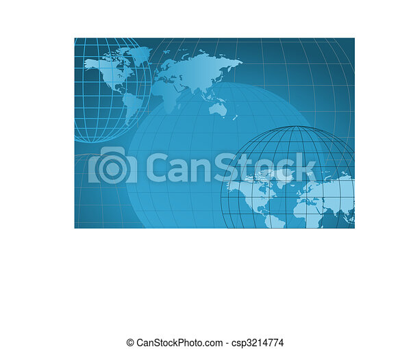 World Map - csp3214774