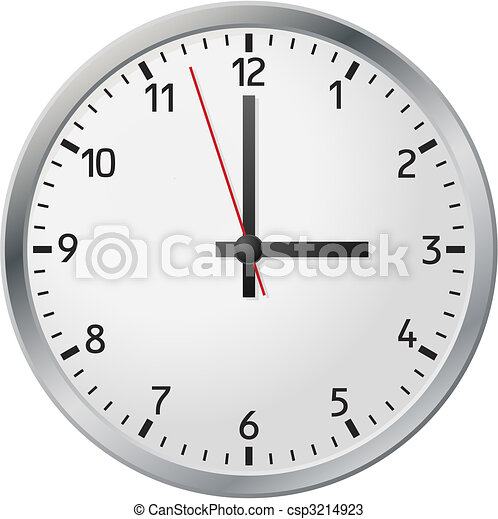 White clock - csp3214923